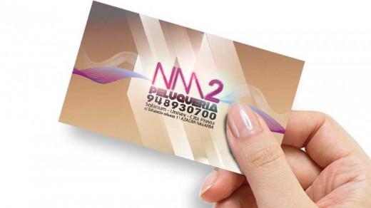 Tarjeta de visita peluqueria NM2