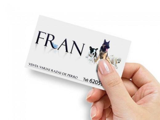 Tarjetas de visita Fran