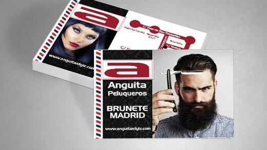 tarjetas de visita anguita peluqueros
