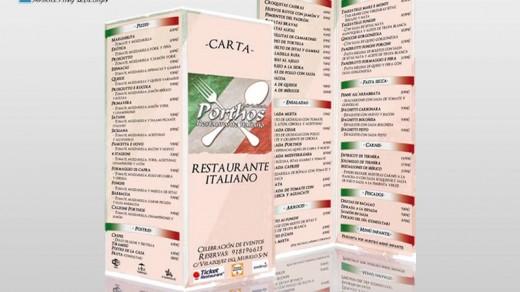 Carta Restaurante Porthos