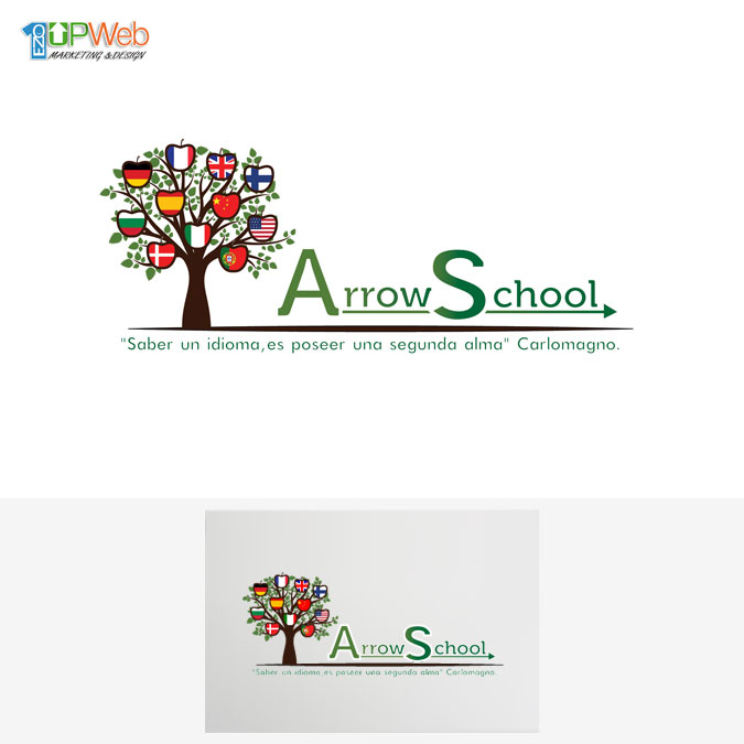 Diseño logotipo Arrow School