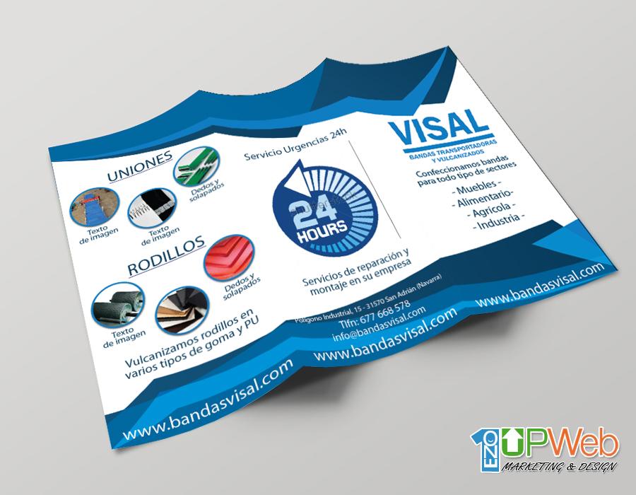 Trípticos Bandas Visal - Diseño e Impresión