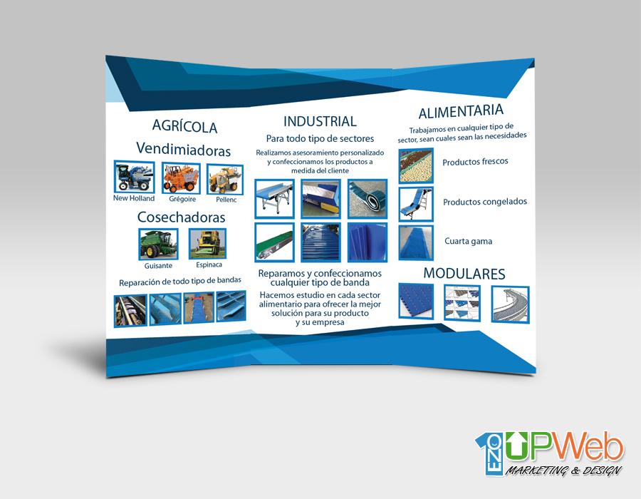 Trípticos Bandas Visal - Diseño e Impresión - Diseño de paginas web 586f459397181