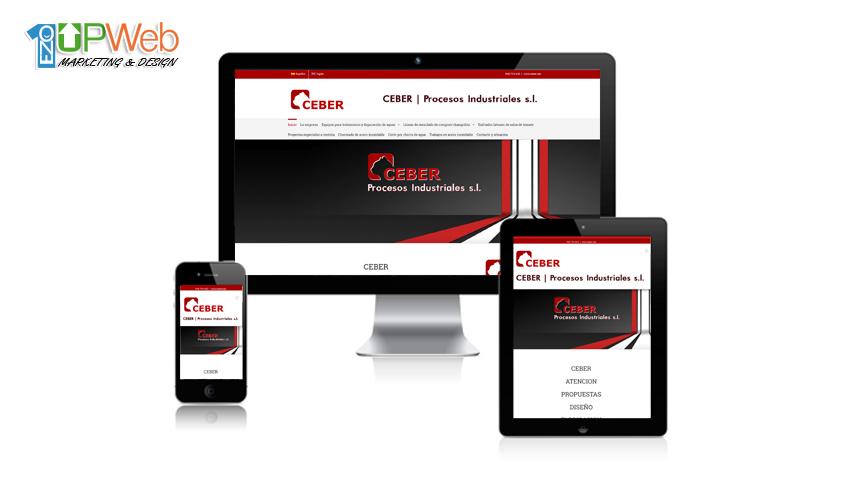 Pagina web Ceber Procesos Industriales
