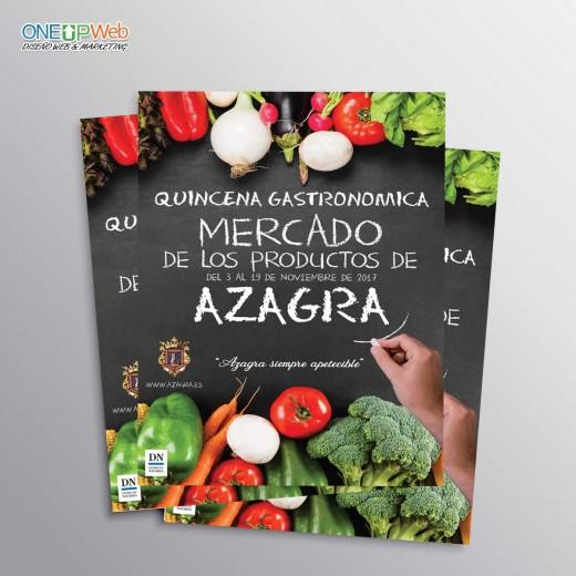 Cartel publicitario Ayuntamiento Azagra mercado