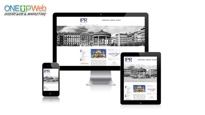 Pagina Web Ipr Legal Abogado Pamplona Dise O De Paginas Web