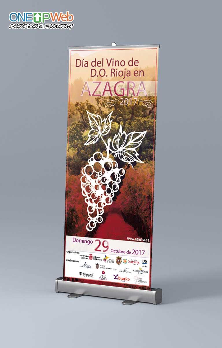Roll Up Ayuntamiento Azagra Dia del Vino