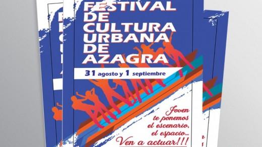 Cartel publicitario Festival Cultura Urbana Azagra